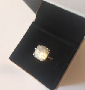 Rare Authentic Pandora Mother of pearl ring !